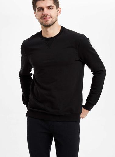 DeFacto Basic Regular Fit Sweatshirt Siyah